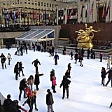 Although all rinks are known to draw rather large crowds, the one at Rockefeller Center is notorious for staying packed. So if this experience is on your holiday bucket list, I highly recommend arriving as early as possible.  My husband and I arrived at 8:00 a.m. on a weekday morning with hopes of being some of the first people in line since the rink doesn't open until 8:30 a.m, yet we turned the corner and found faces already anxiously waiting. So, yes, the earlier you can arrive, the better!