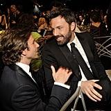 Bradley Cooper visited Ben Affleck's table.