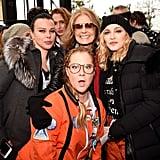Pictured: Amy Schumer, Debi Mazar, Gloria Steinem, and Madonna