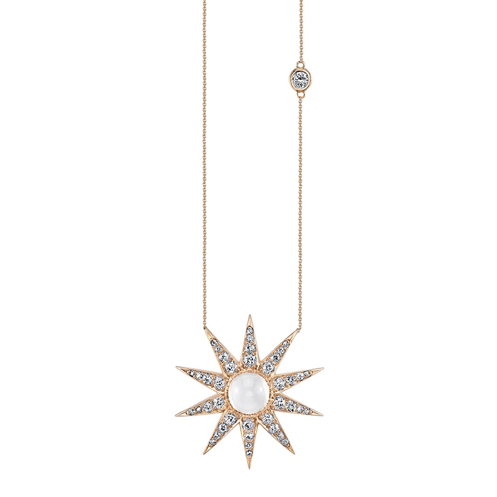 Shay Jewelry Victorian Moonstone Starburst Necklace ($5,880)