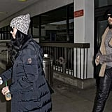 Pictures of Katy Perry and Russell Brand Landing at LAX