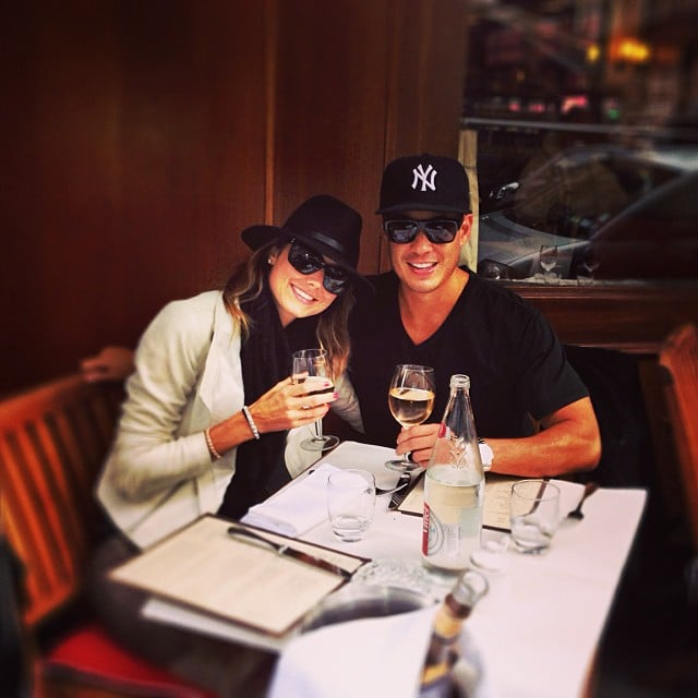 Stacy Keibler enjoyed a drink in Paris with her new boyfriend, Jared Pobre. Source: Instagram user stacykeibler