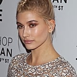 Hailey Baldwin's Center Braid in November 2014