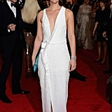 Claire Danes was beautiful in an elegant J. Mendel dress.