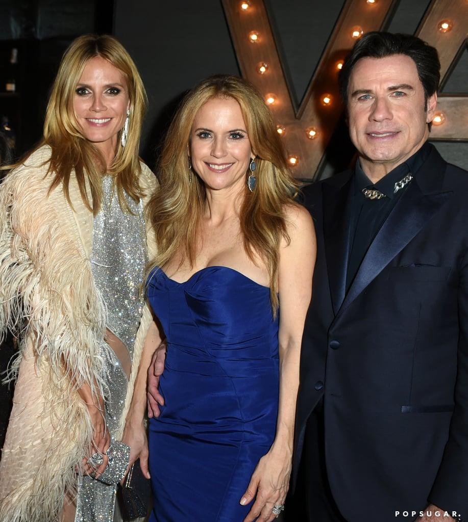 Heidi Klum, Kelly Preston, and John Travolta