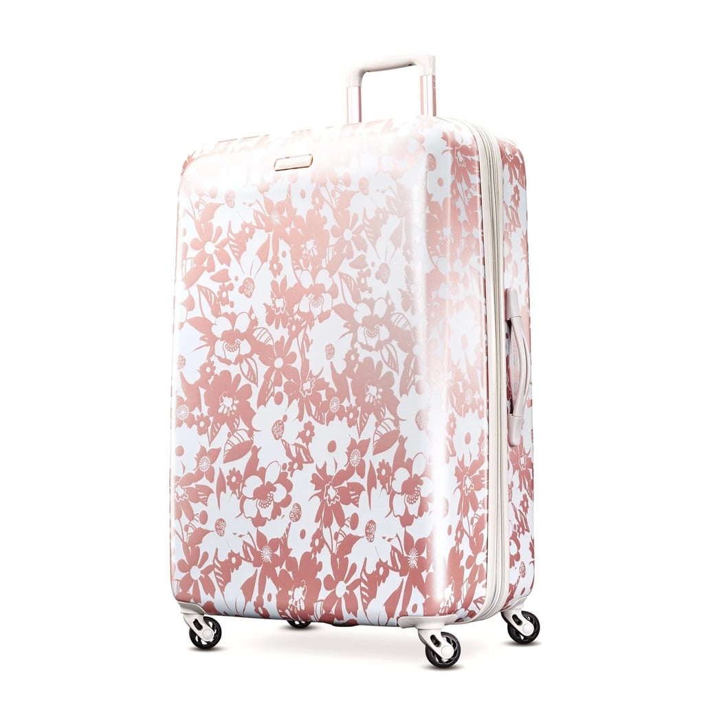32e892085 American Tourister Arabella Hardside Spinner Suitcase in Floral Rose Gold