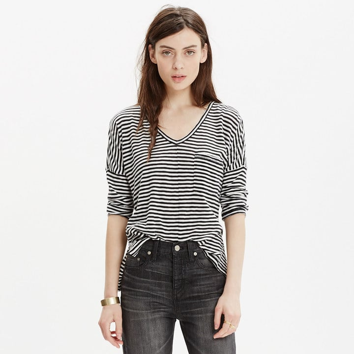 Madewell Melody Pocket Tee in Stripe ($55)