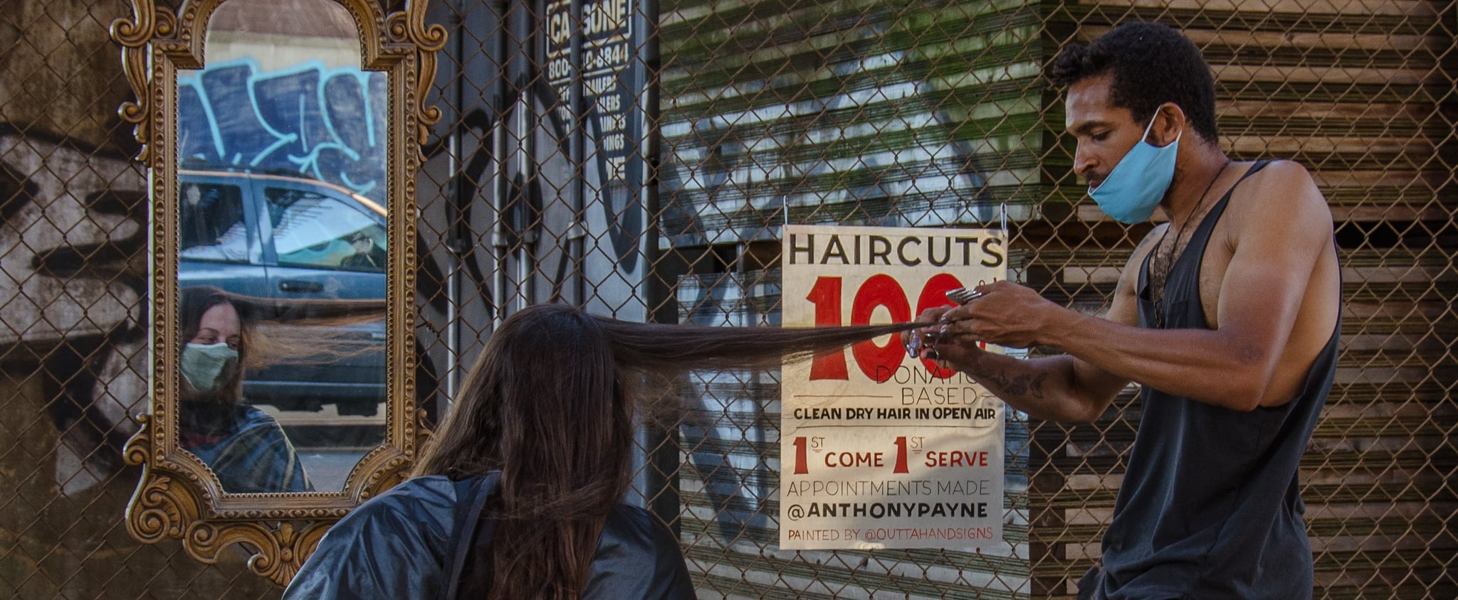 New Yorker Gives Donation-Based Haircuts to Support BLM