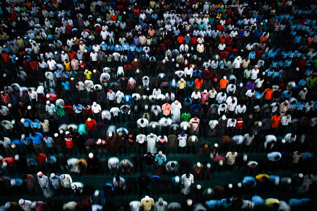 A large group of concerned people gathered for a prayer in Kuala Lumpur, Malaysia, on Friday.