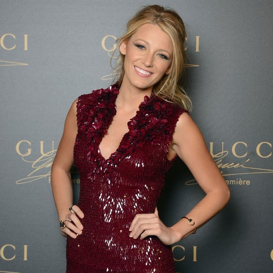 Blake Lively Pictures in Gucci Mini Dress at 2012 Venice Film Festival