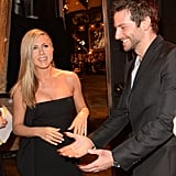 Jennifer Aniston and Bradley Cooper chatted.