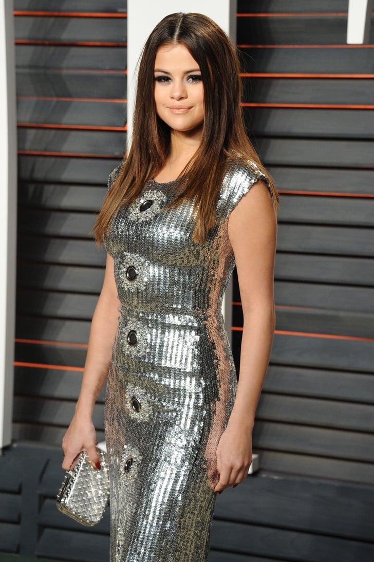 Selena Gomez At Vanity Fair Oscars Party 2016 Popsugar Celebrity