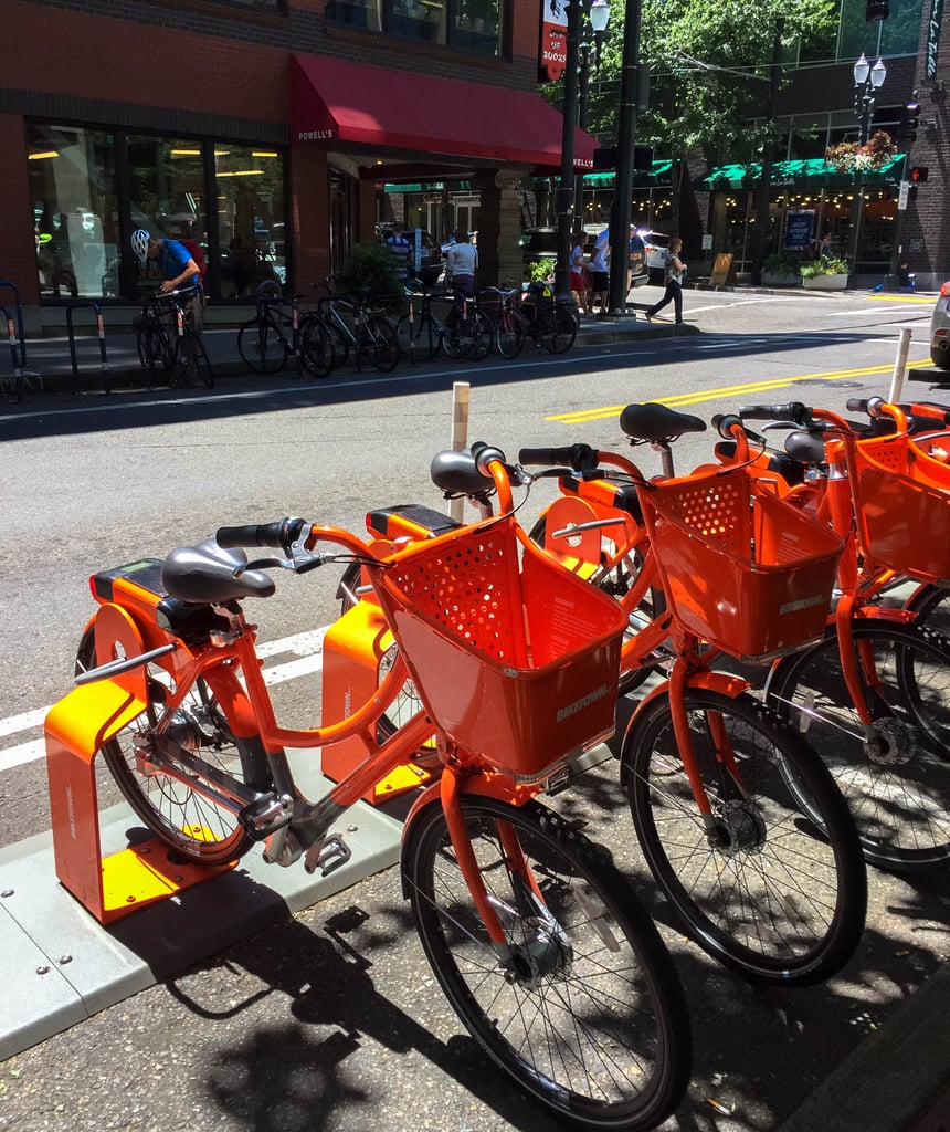However, had I not rented a car, I definitely would have taken advantage of BIKETOWN, the bike-share program in Portland. With a total of 1,000 bikes and 100 parking stations, these bright orange two-wheelers are certainly a fun and convenient way to explore the city. And at just $12 per day, they're quite affordable, too.