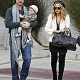 Rachel Zoe and Rodger Berman had a lunch date in LA with baby Skyler.