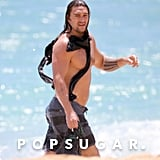 Jason Momoa Shirtless on the Beach in Hawaii June 2019