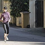 Nicole Kidman went for a jog yesterday.