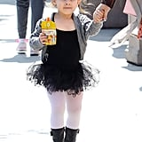 Sarah Michelle Gellar's daughter Charlotte wore a black tutu to ballet class in LA.