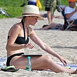 Alexis Bledel wore a black bikini in Hawaii while on vacation in May.