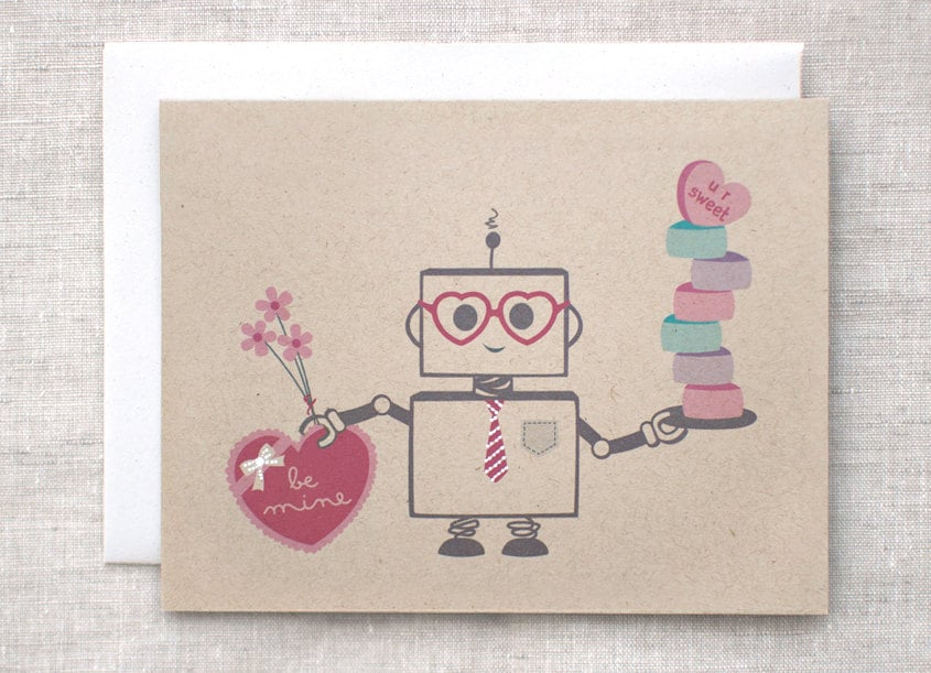 This multitasking robot ($6) offers the finest in Valentine's Day treats.