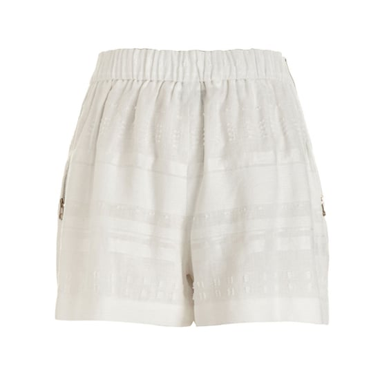 "3.1 Phillip Lim Pleated Linen Shorts, $275    Pair with:    <iframe src=""http://widget.shopstyle.com/widget?pid=uid5121-1693761-41&look=3445648&width=3&height=3&layouttype=0&border=0&footer=0"" frameborder=""0"" height=""244"" scrolling=""no"" width=""286""></iframe>"