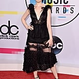 Wearing a Fabiana Milazzo dress with Loriblu heels and an Emm Kuo bag at the 2017 American Music Awards.