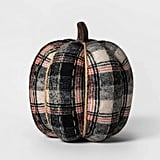 Knit Plaid Pumpkin Halloween Decoration