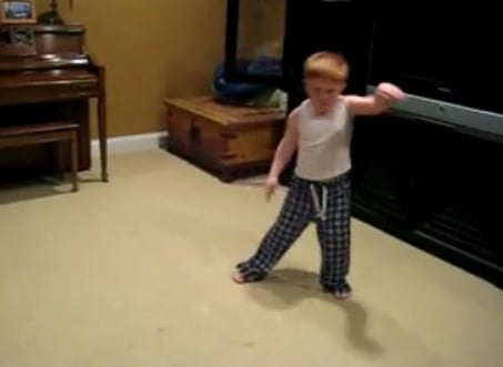 Cute Alert: Kid Does a Goofy Freaky Dance
