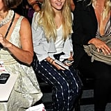 We love AnnaSophia's front-row style at New York Fashion Week. Her printed pants provided just enough pizazz without being over the top.       Shortsleeve Tops by Calvin Klein JeansPlatforms by Fergie