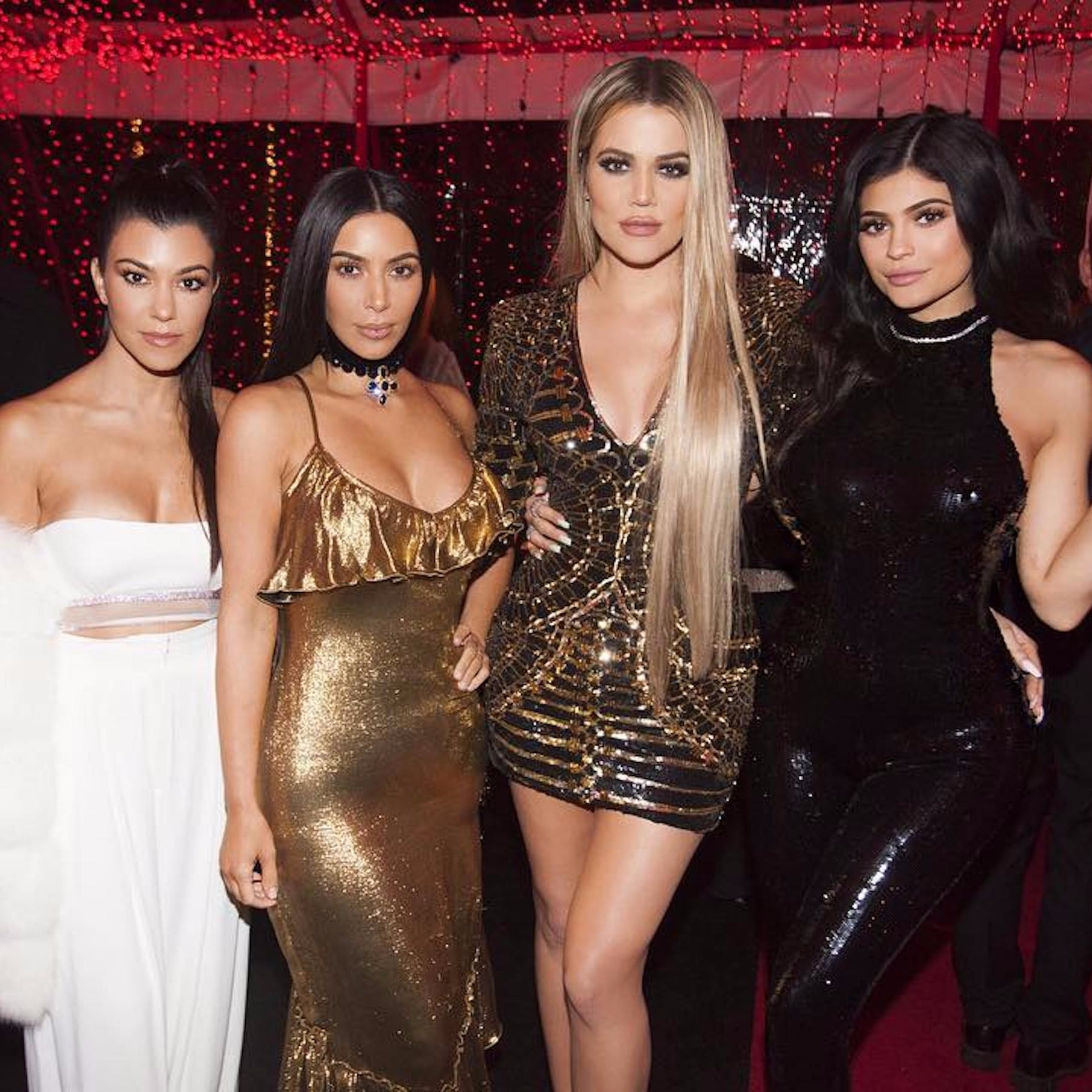 Family Christmas Picture Kardashian Family Christmas Pictures Popsugar Celebrity