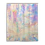 SPXUBZ Holographic Iridescent Metallic Shower Curtain