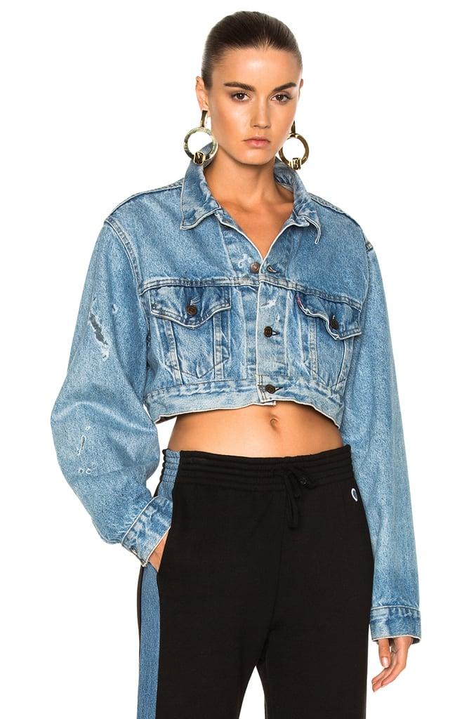 RE/DONE Crop Denim Jacket | Gigi Hadid's Cropped Denim Jacket ...