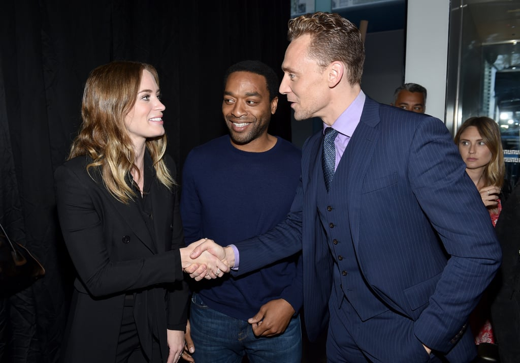 Emily Blunt, Chiwetel Ejiofor, and Tom Hiddleston