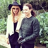 Rachel Zoe did some stylish gardening with designer Jenni Kayne. Source: Instagram user rachelzoe