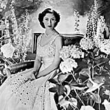 The princess sat for a portrait in the 1940s.