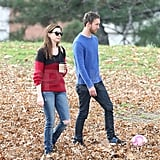 Anne Hathaway and Adam Shulman kicked a ball around together in NYC.