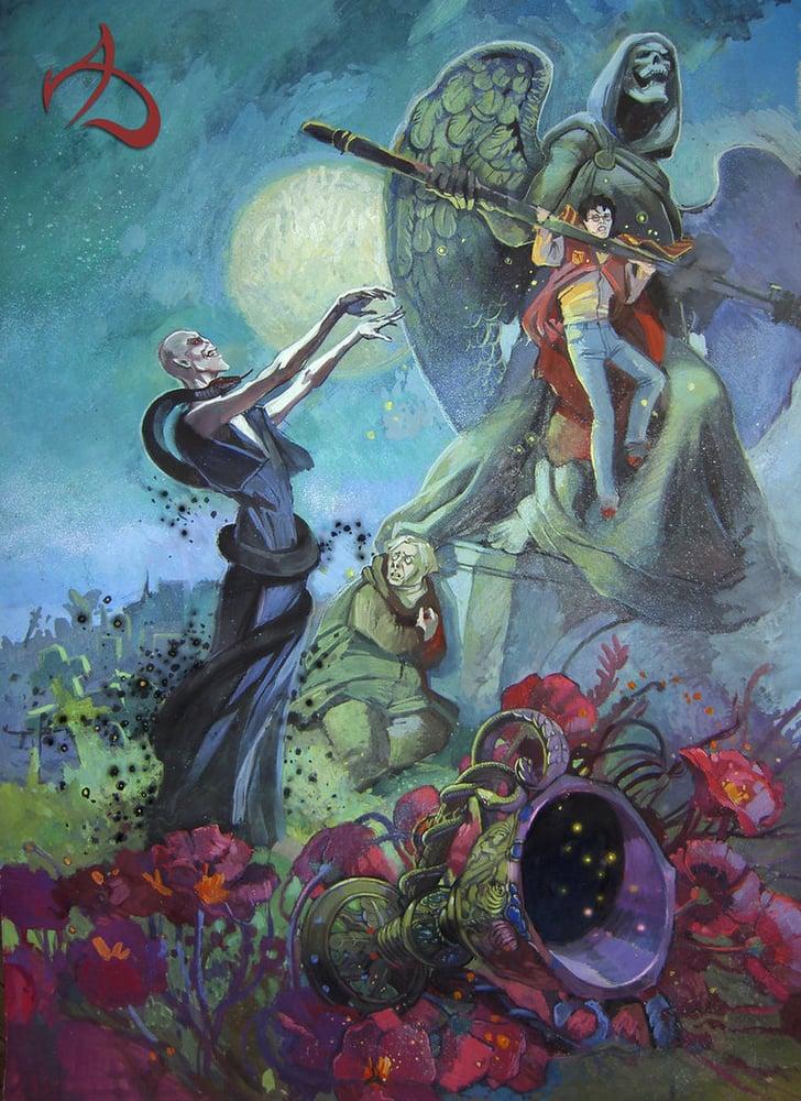 Goblet of Fire Graveyard Scene | Harry Potter Fan Art ...