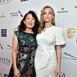Pictured: Sandra Oh and Jodie Comer