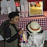 Beyoncé and Blue ate popcorn during their zoo-themed bash. Source: Tumblr user Beyoncé Knowles