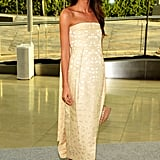 Lily Aldridge wore The Row at the CFDA Fashion Awards in NYC.