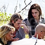 Charlize, Chris, and Kristen shared a photo.
