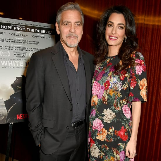 Amal Clooney Floral Dress at The White Helmets Screening