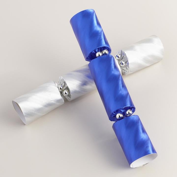 Blue and Silver Hanukkah Crackers