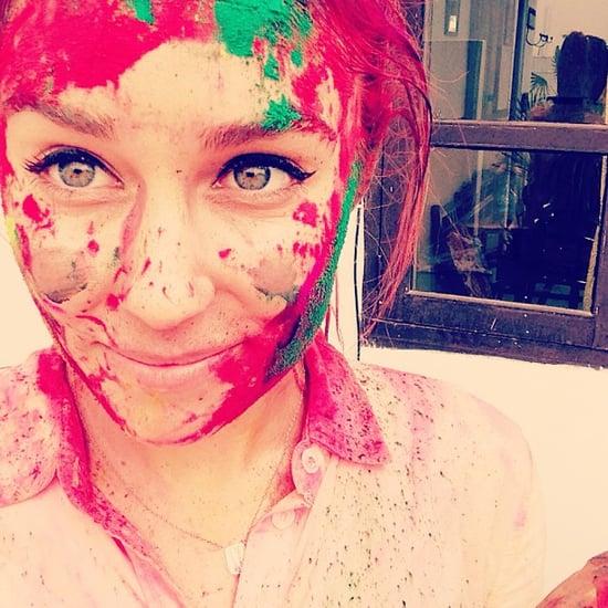 Lauren Conrad With Pink Hair