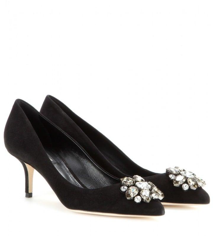Dolce & Gabbana Bellucci Embellished Suede Pumps ($845)
