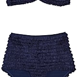 We're not sure what we love more about this high-waisted bikini: the gorgeous royal-blue shade, the '40s-chic silhouette, or the Tina Turner-inspired fringe details. Norma Kamali Fringed Stretch-Jersey Bikini ($1,500)