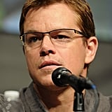 Matt Damon spoke at Sony's Elysium panel during Comic-Con.