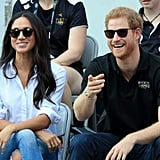 Prince Harry and Meghan Markle at the Invictus Games in 2017