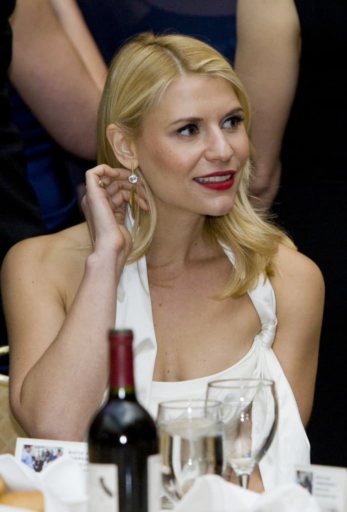 Claire Danes listened to the speeches at the White House Correspondant's Dinner.