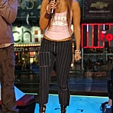 At MTV's Total Request Live in 2005
