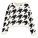 Topshop Dogtooth Sweater